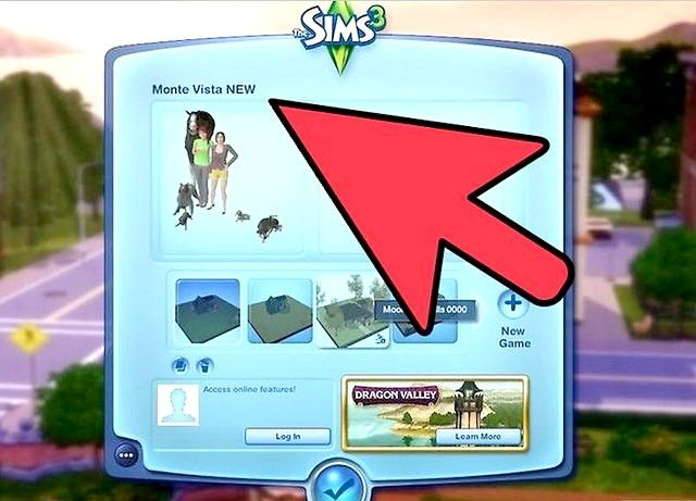 Billed betegnet Simport i Sims 3 Showtime Trin 4