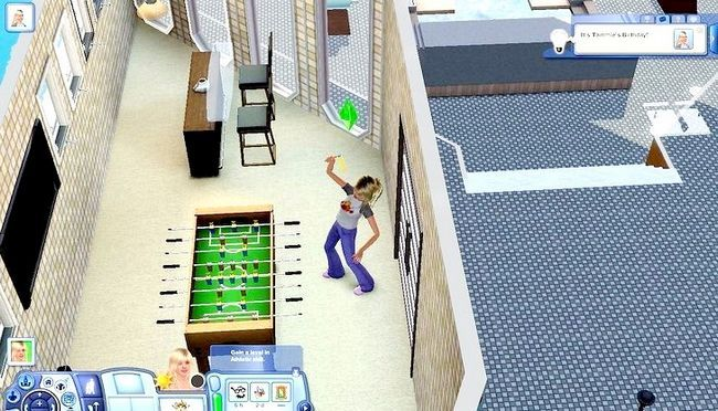 Billed med titlen Live As A Teen on Your Own i Sims 3 Trin 10